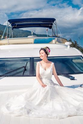 豪华游艇婚纱照客片