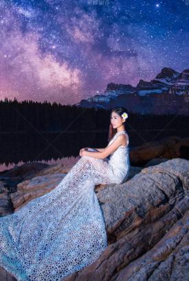 星空海洋婚纱照客片