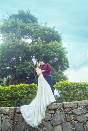 蒙娜丽莎婚纱摄影园林客照作品