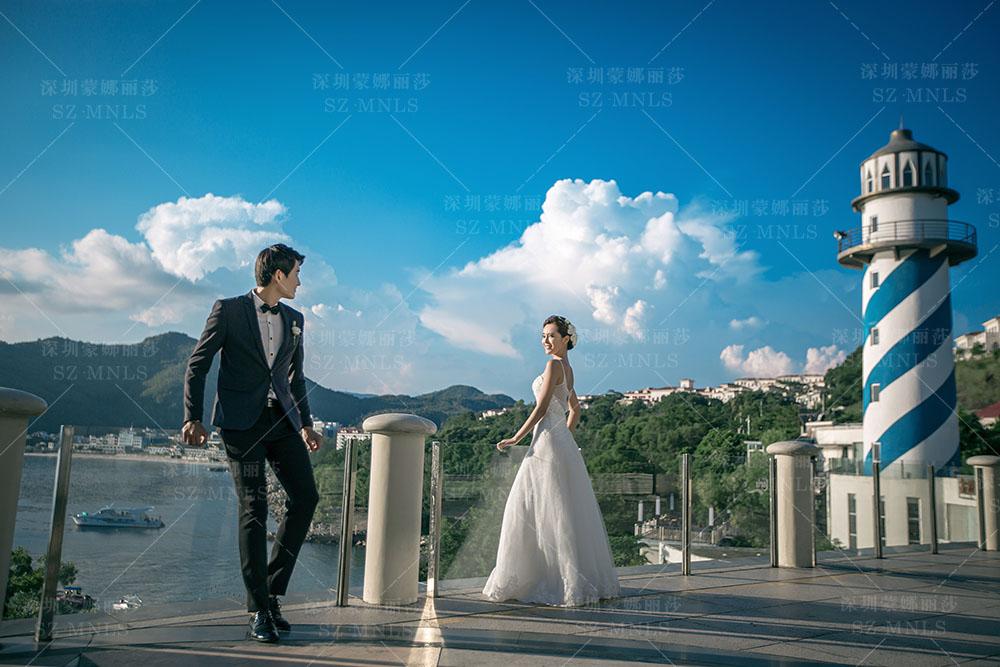 守望灯塔 | 深圳婚纱摄影 深圳海景婚纱照 深圳婚纱