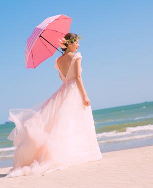 深蓝秘境之歌婚纱摄影照片