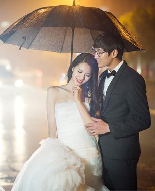 都市夜景婚纱摄影