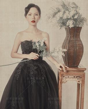 工笔画主题婚纱摄影