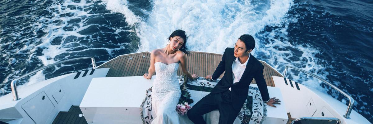 私家游艇婚纱摄影