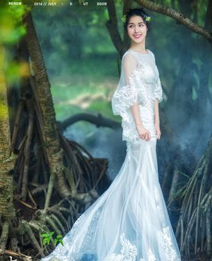 幽谷兰香主题外景婚纱摄影