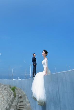 恋恋海之蓝婚纱摄影客照