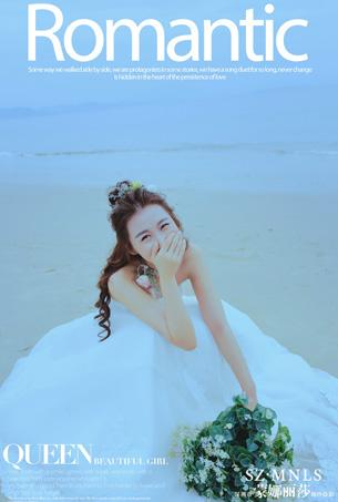 蓝色幸福海岸主题婚纱摄影客照