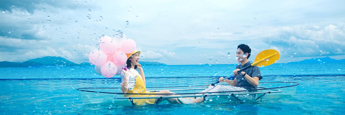 深圳海景婚纱照 希腊旅拍风 海天一线景点