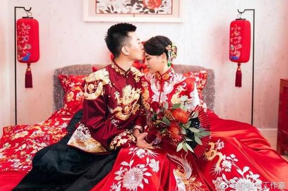 吴敏霞上海在办婚礼众多体育明星出席