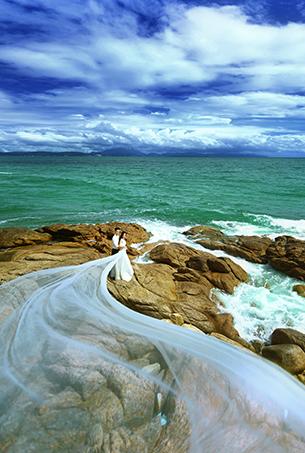 深圳海景婚纱摄影 蒙娜丽莎 婚纱照客片欣赏