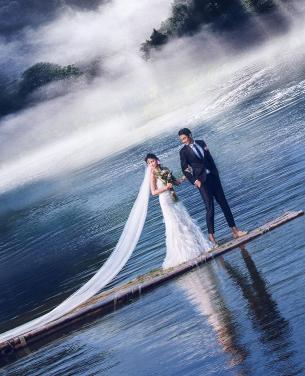 泛波湖上,情深深,意绵绵-深圳婚纱摄影,深圳婚纱照,海景婚照作品