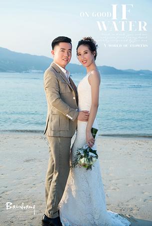 深圳婚纱摄影,东方夏威夷沙滩海景婚纱照,原创婚纱客照作品