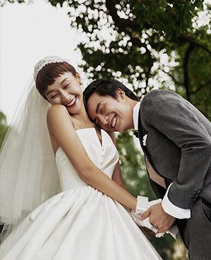 沁松园林婚纱摄影照片
