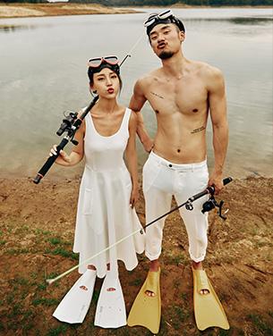 《野钓之趣》个性系列外景主题婚纱摄影作品