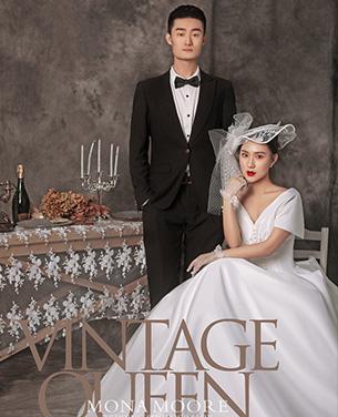 深圳蒙娜丽莎婚纱摄影个性系列婚纱摄影作品《复古女王》