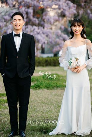 深圳蒙娜丽莎婚纱摄影原创客照作品《寻你·春风里》清新园林风