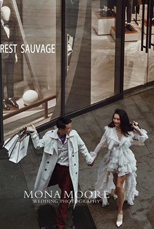 深圳蒙娜丽莎婚纱摄影原创客照作品《美爵》都市街拍风