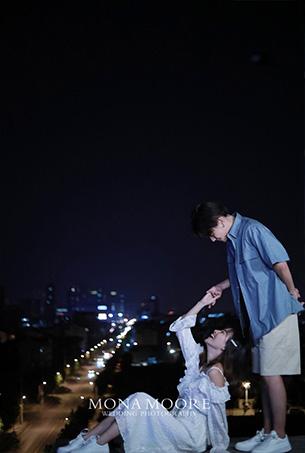 深圳蒙娜丽莎婚纱摄影原创客照作品《都市夜色》都市个性风