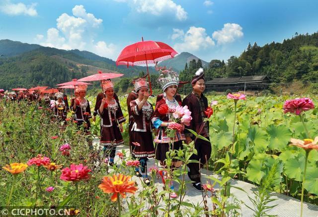 广西龙胜传歌节上的特殊婚礼